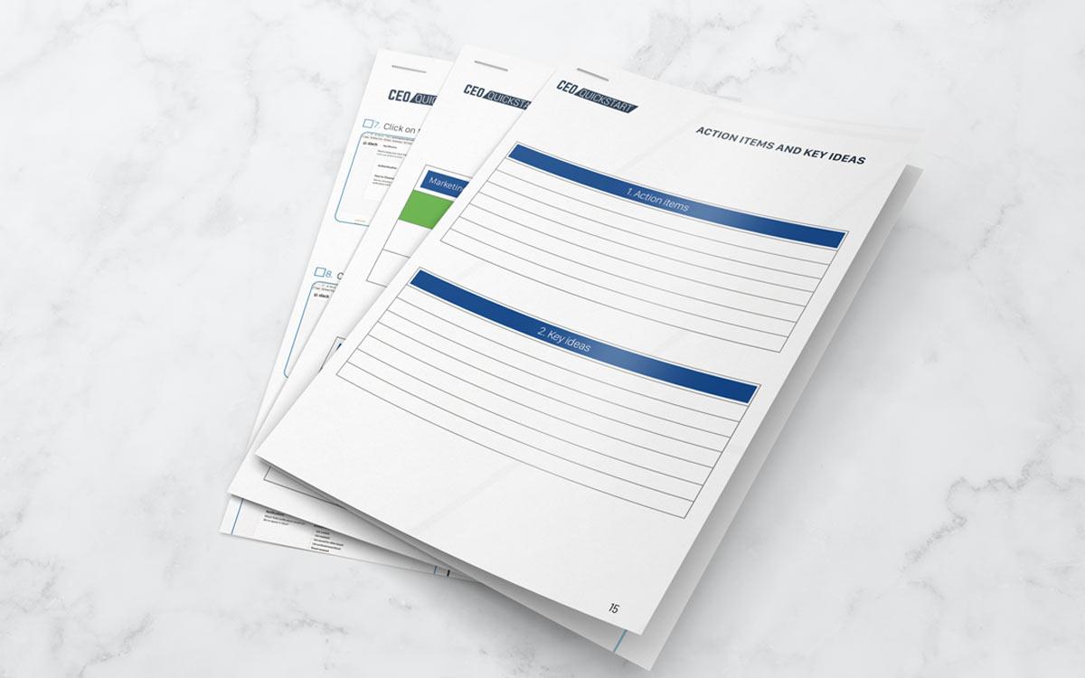 James P. Friel CEO quickstart template visual